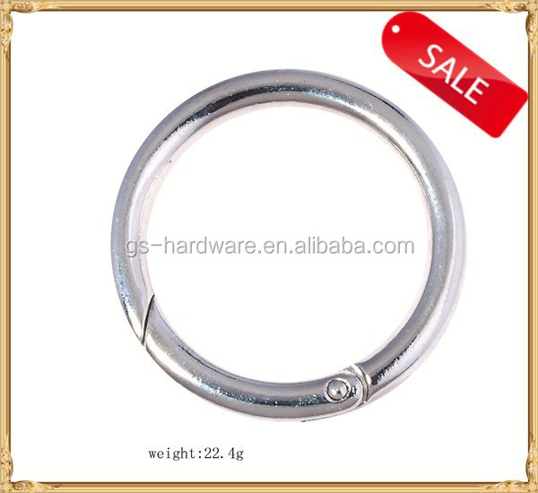 High quality zinc alloy spring O buckle, metal spring rings, metal buckles factory, JL-386