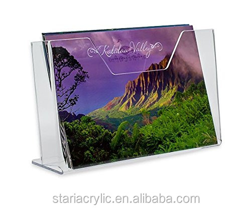Clear Acrylic Premium Post Card Holder Stand Rack Display for Tabletop Menu Display Stand Poster Ad Sign Brochure Display Rack