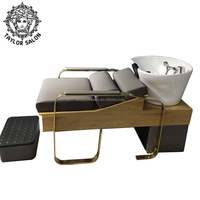 Barber salon furniture set beauty lay down hair washing bed backwash bowl salon shampoo chair