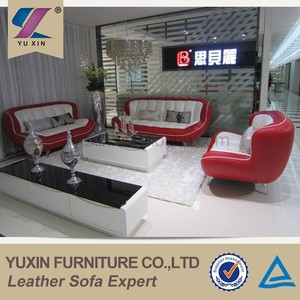 modern design showroom lip design 3 seater leather sofa