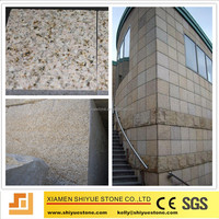 China cheap rusty yellow granite , G350 gold granit tile