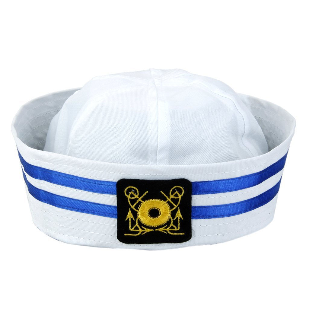 440f26f430d23 MagiDeal Unisex Captain Sailor Hat Skipper Navy Marine Cap Kids Military  Hat Yacht Cap