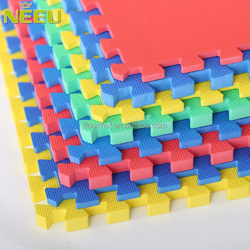 NEEU EVA foam material 60x60 tile laminated interlocking joint gym mat