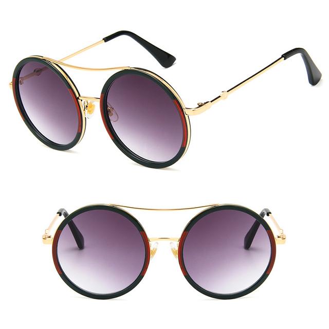 DLL3085 2018 Fashion Eye wear Colored Frame Vintage Round Sunglasses