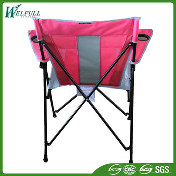 Cheap Price Outdoor Folding Chair Pink Camping With Armrest