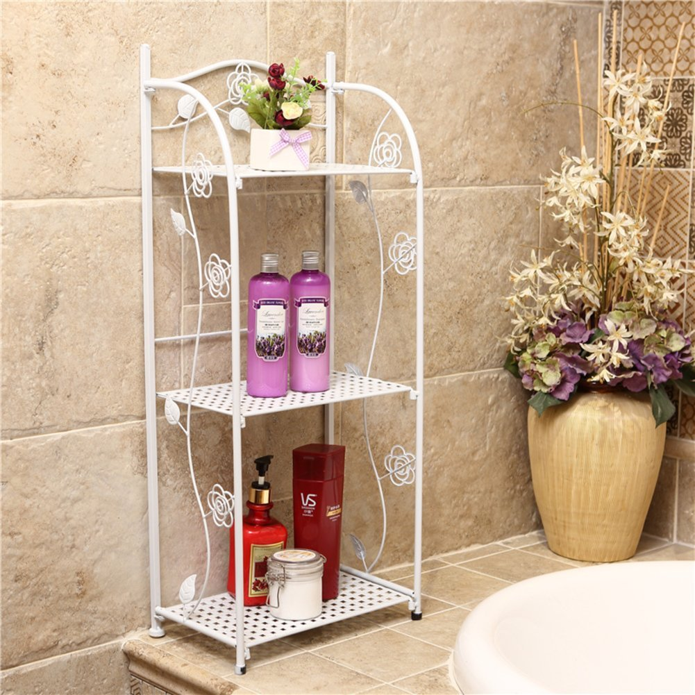 Storage Rack Metal Functional Multi-storey Wrought Iron Rack Wrought Iron Shelf Storage Shelf For Kitchen Bathroom Balcony Goods Of Every Description Are Available Bathroom Fixtures Home Improvement