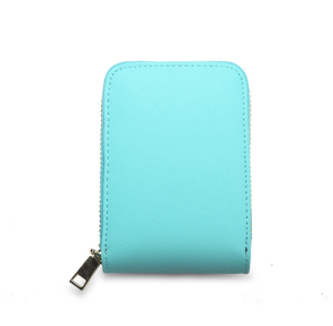 RFID fashion genuine leather short zipper multi-card wallet organ card holder