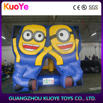 Hot sale minion inflables bouncy castle