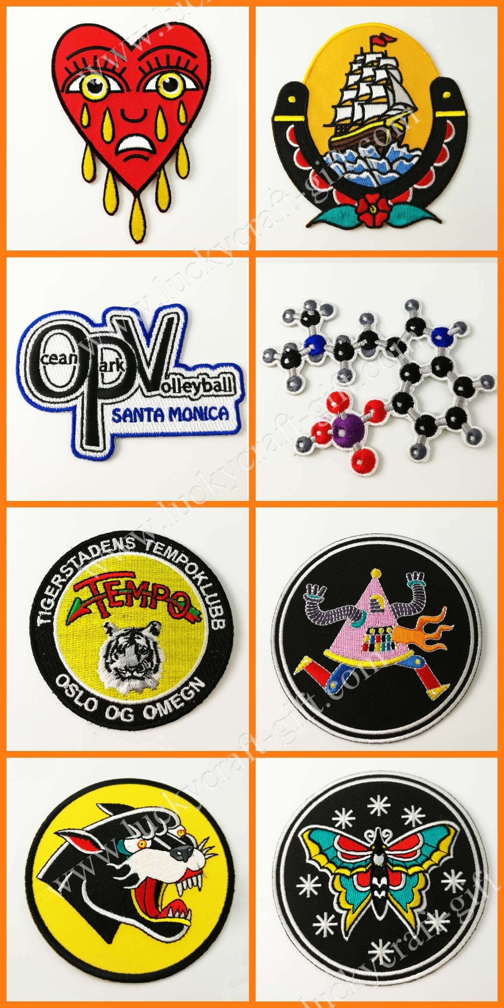 Custom Embroidered Patches Highest Quality, Merrow