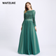 High Quality long sleeve maxi sequin evening dress party tulle ball gown