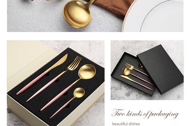 stainless steel fork and spoon camping cutlery set