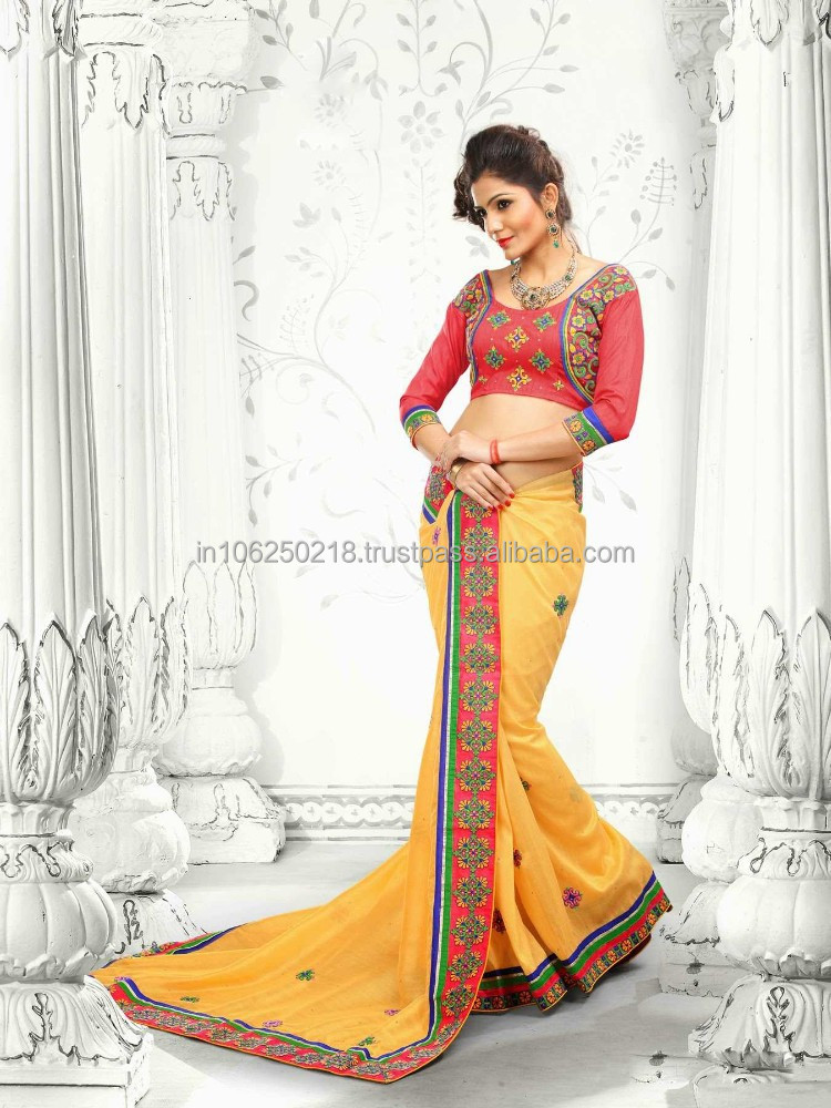 New Bollywood Heavy Designer Georgette Saree Fancy Ethnic Wear Casual ...R4758