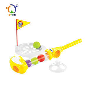 best gift kids plastic mini display box golf toys with ball