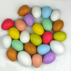 Easter decorations DIY painted wooden easter eggs