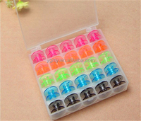Details about Ideal 25 Empty Bobbins Sewing Colorful Plastic Case Storage BI4U