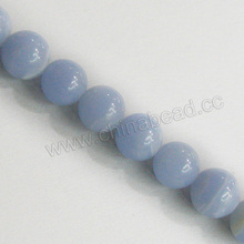 Wholesale handmade jewelry natural stones, 6mm round blue lace agate
