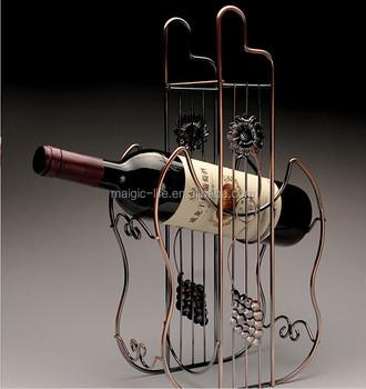Home Design Car Shape Wine Bottle Holder Wrought Iron Wine Rack