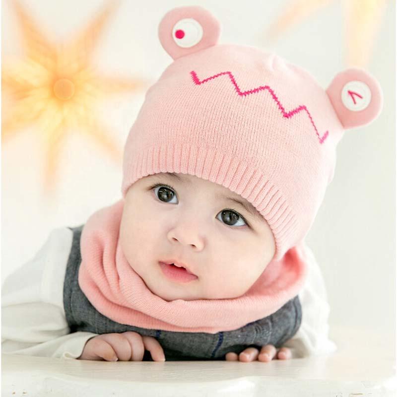 Fashion Hangat Rajutan Lembut Musim Dingin Baru Lahir Balita Beanie Topi  Bayi Perempuan 9d56a42d85