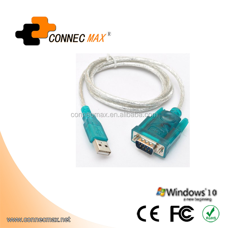 USB to RS232 DB9 Serial Male convertor adapter cable with PL2303TA chipset Driveless