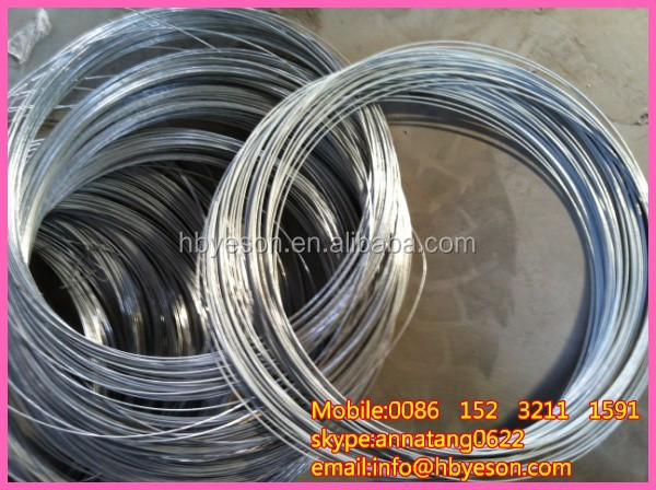 cold drawing galvanized wire/BWG 20 EG iron wire/iron wire zinc coating 12g