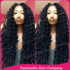 2016 Best 7A Quality! #1b tight kinky curly 100 virgin mongolian hair extra long lace front wig