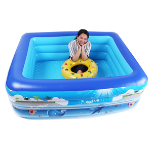 Summer Indoor Outdoor Kid's Inflatable Rectangle Swimming Baby Play Center Pool