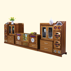 2017 new tv showcase furniture smart voice play tv cabinet showcase design