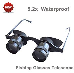 f1eb639cb13f Get Quotations · NuoYa001 5.2x30 Glasses Magnifying Loupes Fishing Binocular  Focus