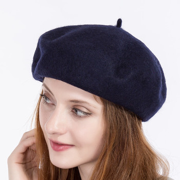 cheap cotton winter black red ladies knit felt french women wool beret hat  cap a0aba41e322