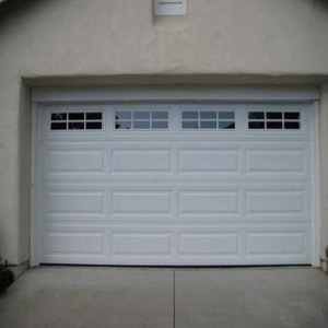 Steel section easy lift garage door window inserts