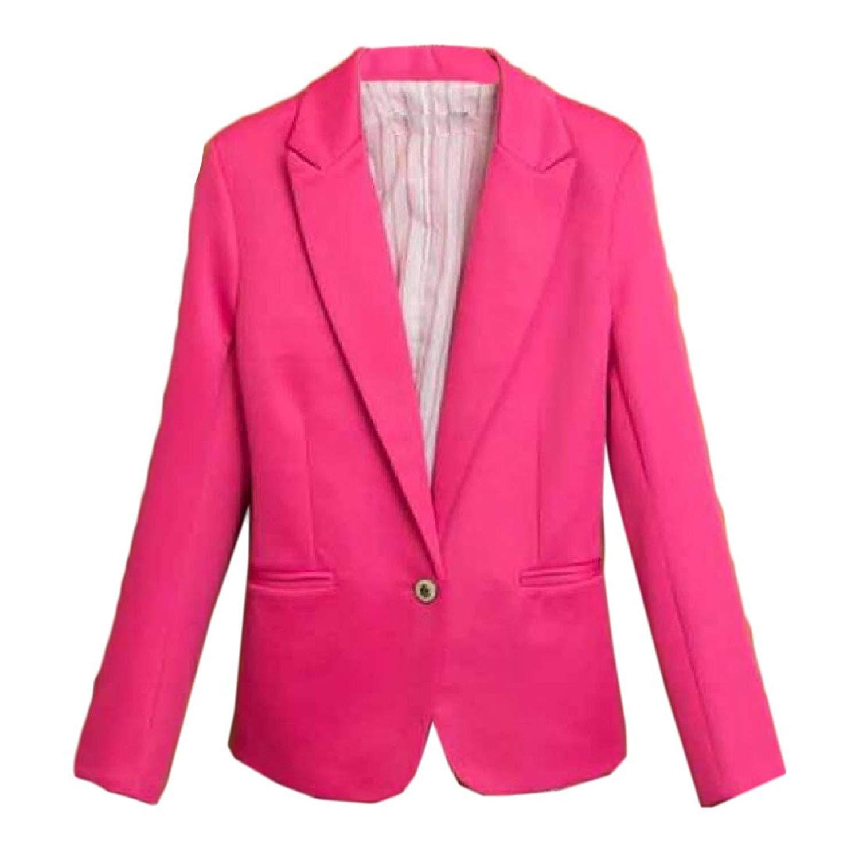 c80a5fda88f Get Quotations · Abetteric Women's 1 Button Tuxedo Blazer Fit Lapel Blazer
