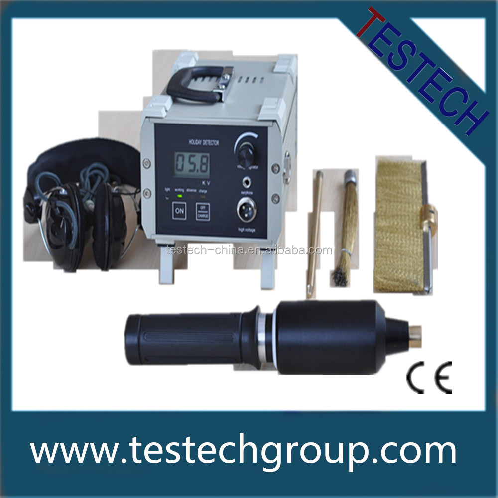 PUlse Spark Leak Detector / Pipe Coating Crack Testing Ndt / Electrical Holiday Detector For Pipeline