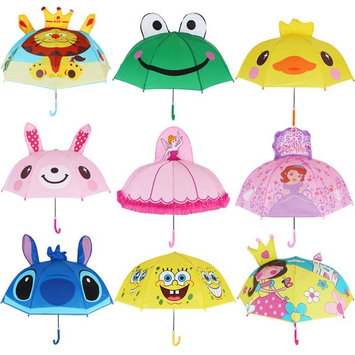 SUNDAY $1 umbrella one dollar 3d umbrella Children kids umbrella with animal cartoon фото