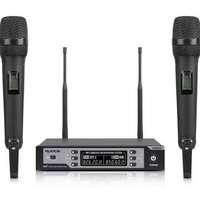 True diversity receiver hot sale professional UHF Dual-channel wireless microphone