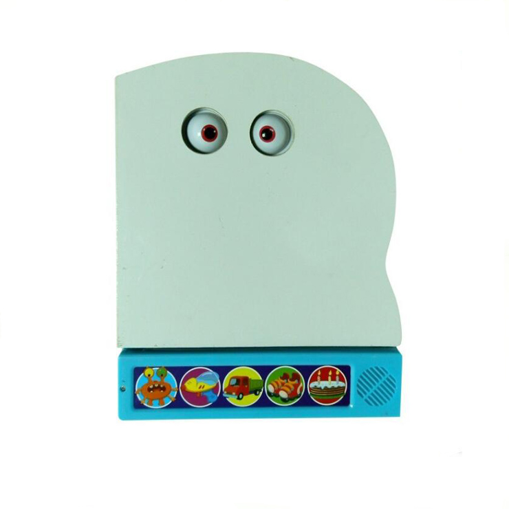 2018 Good Quality Children Push Button Music Sound Books, Educational Talking Book& Funny Toys for Kids