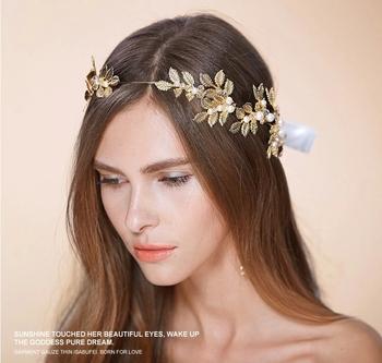 Bridal headpiece gold headwear wedding hair accessories tiara crown bridal headpiece gold headwear wedding hair accessories tiara crown junglespirit Choice Image