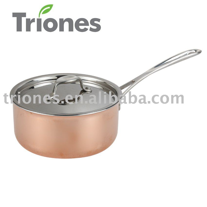 Stainless Steel Aluminum 3-ply copper sauce pan