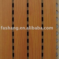 Grooved wooden acoustic mdf wall sheet! Perforated wood veneer acoustic panel!