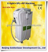 www.golden-laser.org/2013 New style E-light+IPL+RF machine olive oil hair removal