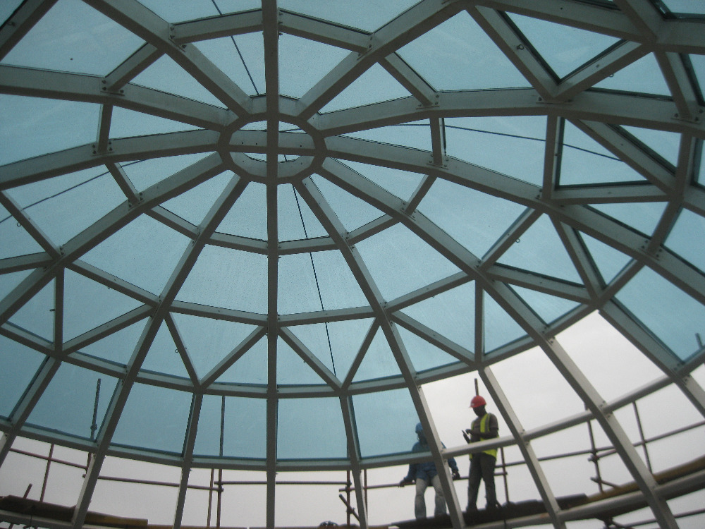 Prefab Light Weight Space Frame Structure Fiberglass Roof