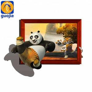 Custom wall decoration die cut vinyl stickers 3d wall sticker