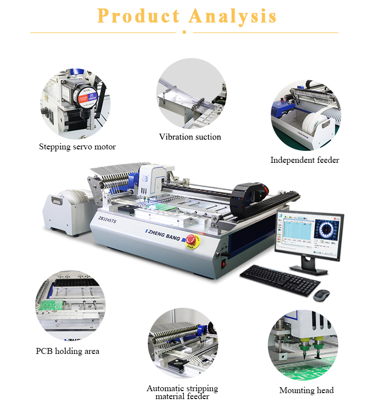 Automatische LED Productielijn Machine SMT Chip Mounter LED Pick en Place Machine
