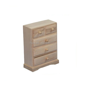 Handmade Craft Wood Small Cabinet Drawer Storage Jewelry Box