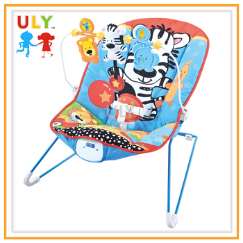 Vibration and music swing bouncer with 3 rattles baby rocking chair