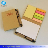 2017 Hot Sale Recycling Promotion Note Book Sticky Notepad With Pen