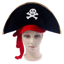 Felt Adult Pirate Hat Skull Pirate Costume Fancy Dress Party Accessory