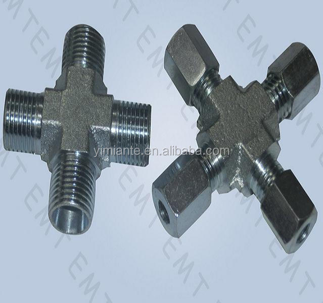 Cross, tube fittings,compression tube fitting