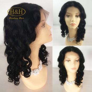 Factory Price Popular Side Part Natural Scalp Wig Human Hair Short