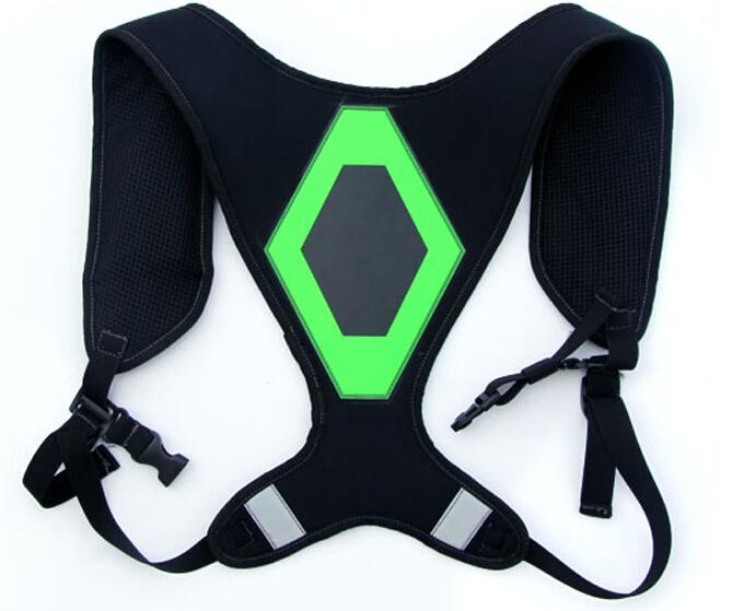 Светоотражающие ремни безопасности жилет с из светодиодов свет + EL светоотражающие кроссовки безопасность жилет для мотоцикла ремни безопасности