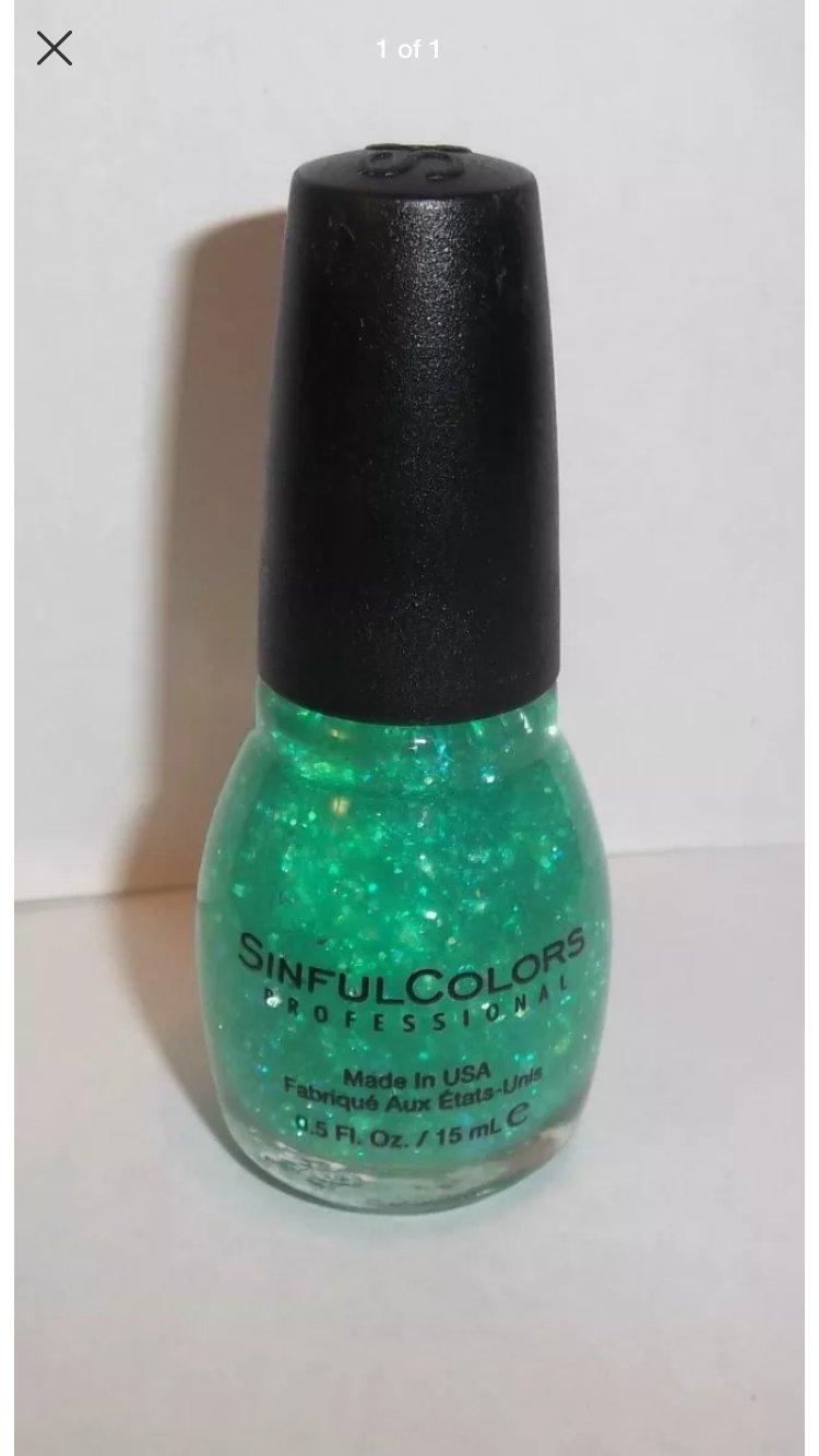 Sinful Colors Professional Nail Polish Enamel, #220 Green Ocean.